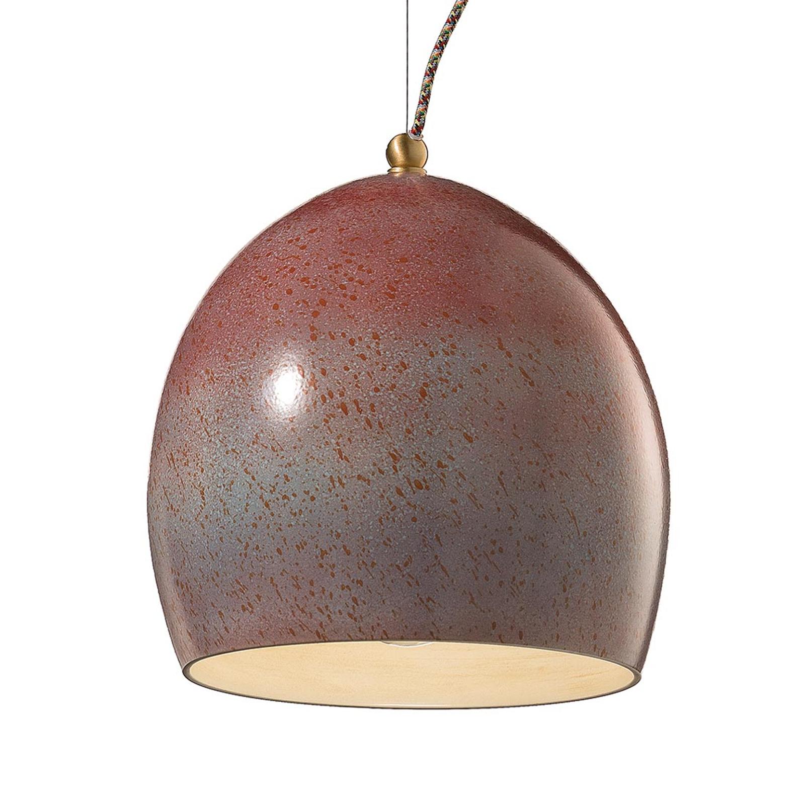 Lámpara colgante Rebecca con pantalla de cerámica