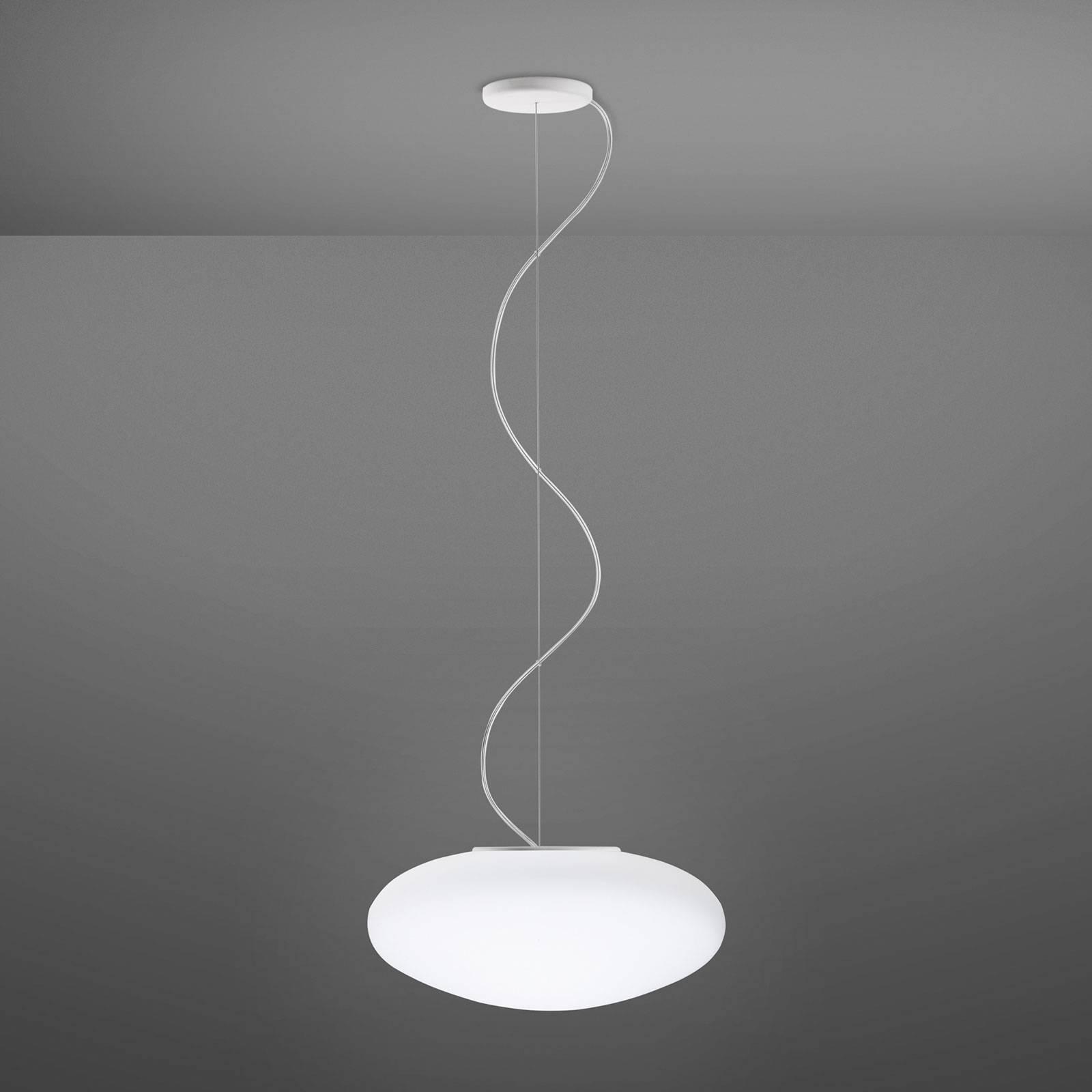 Fabbian Lumi White szklana lampa wisząca, Ø 42 cm