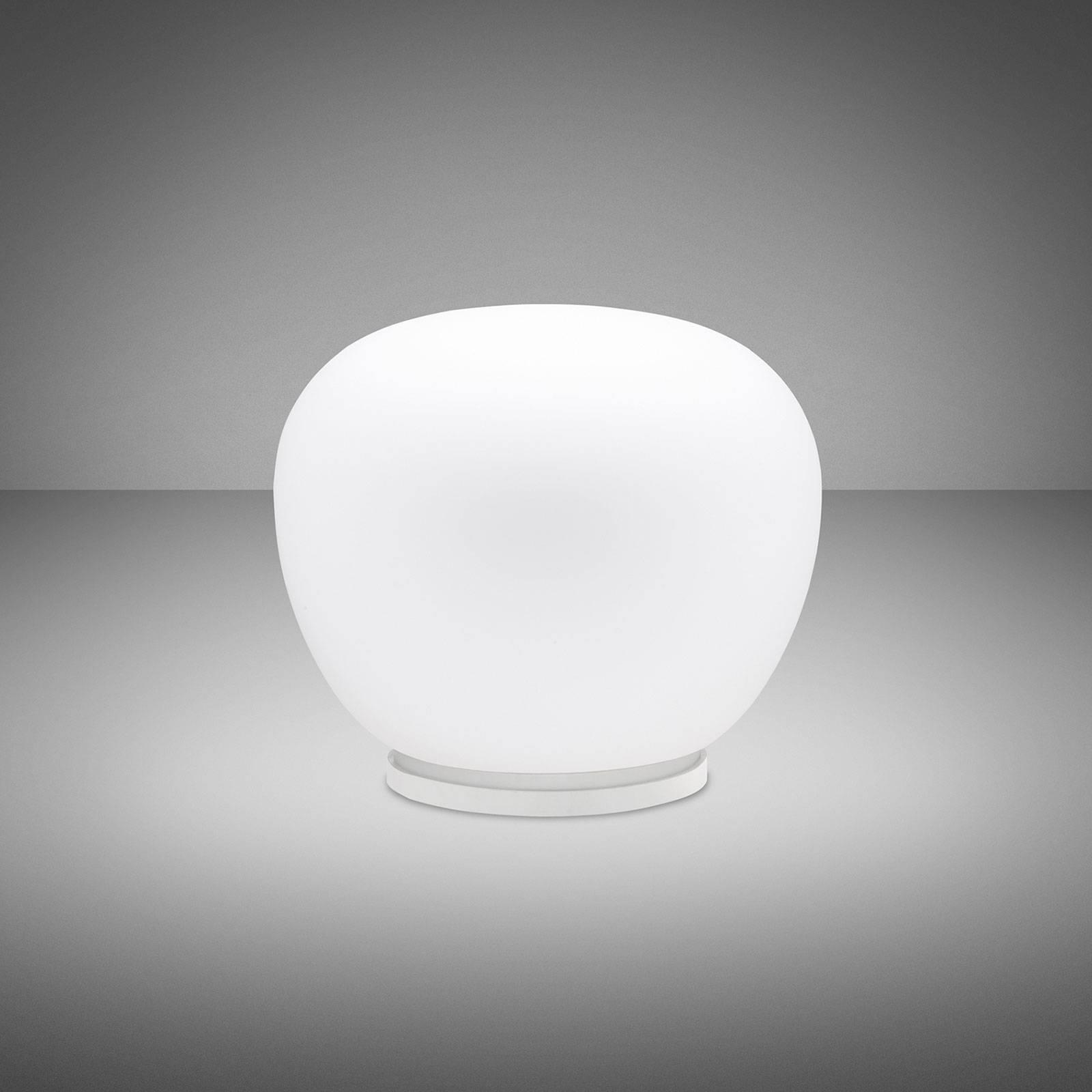 Fabbian Lumi Mochi tafellamp, liggend, Ø 30 cm