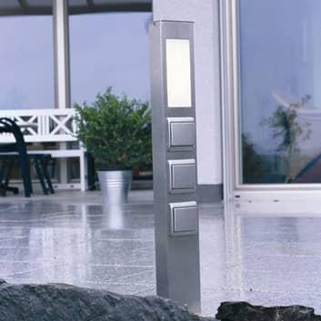 Kontaktpelare 2208 2-faldig med LED, rektangulär