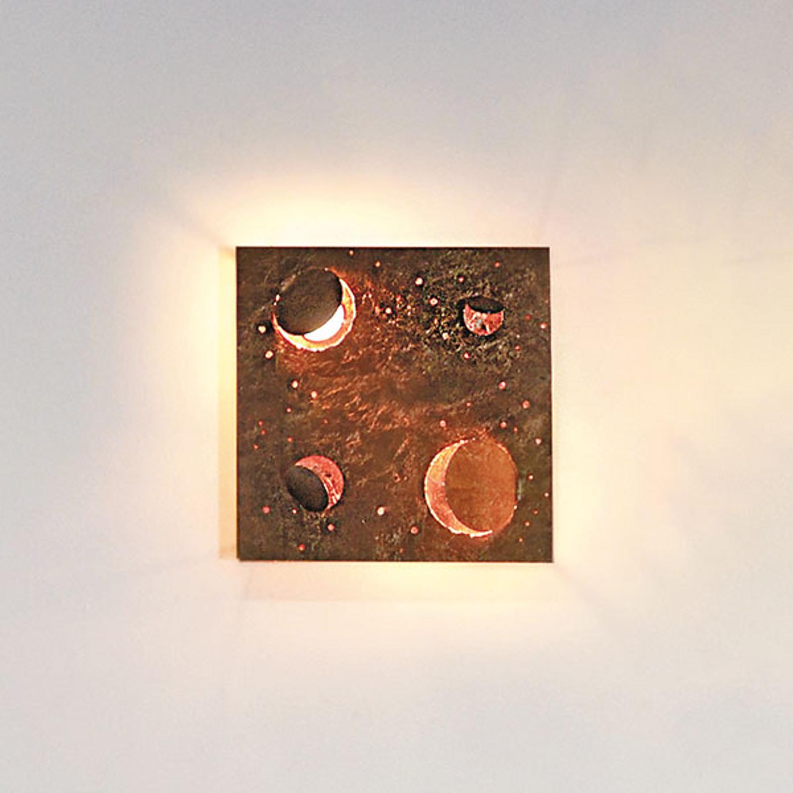 Knikerboker Buchi wandlamp 32x32cm bladkoper