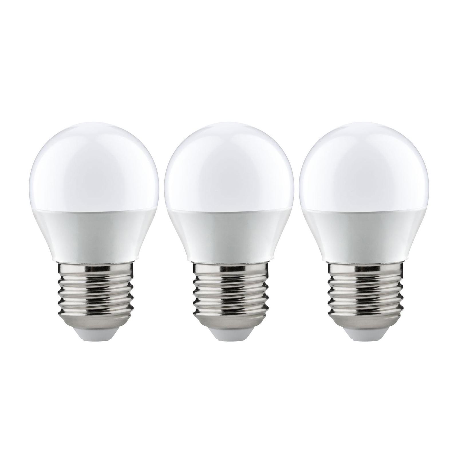 Paulmann LED-Tropfen E27 5,5W 2.700K opal 3er-Pack