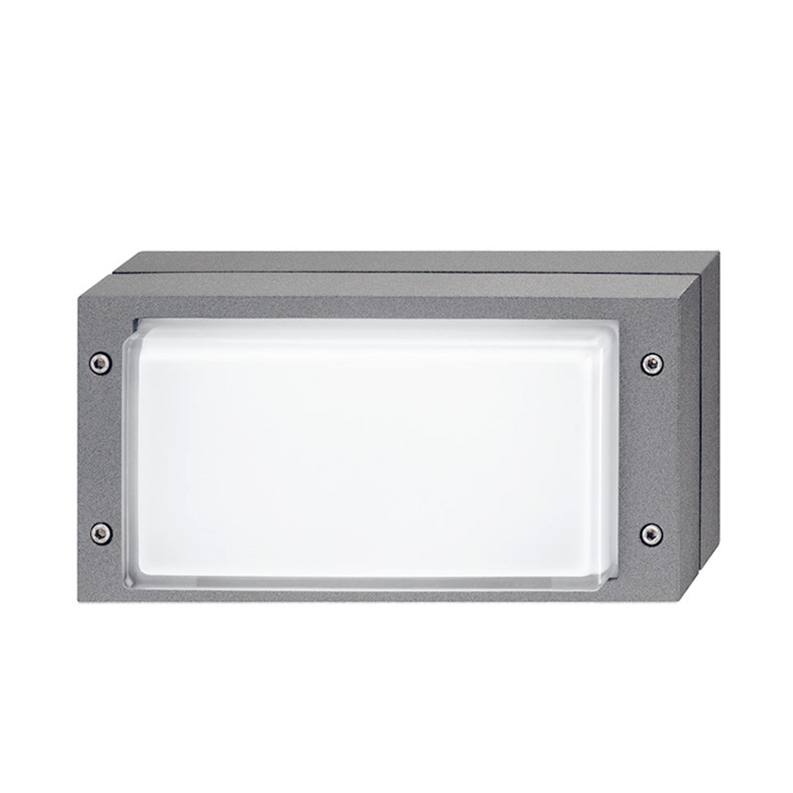 Grijze buitenwandlamp Bliz met LED