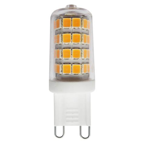 G9 3W 827 bombilla LED bi-pin transparente