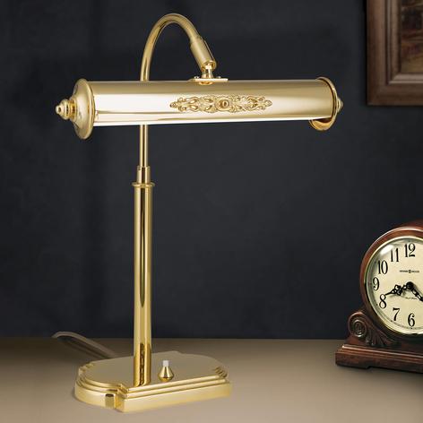 Nostalgická stolní lampa Picture, pozlacená