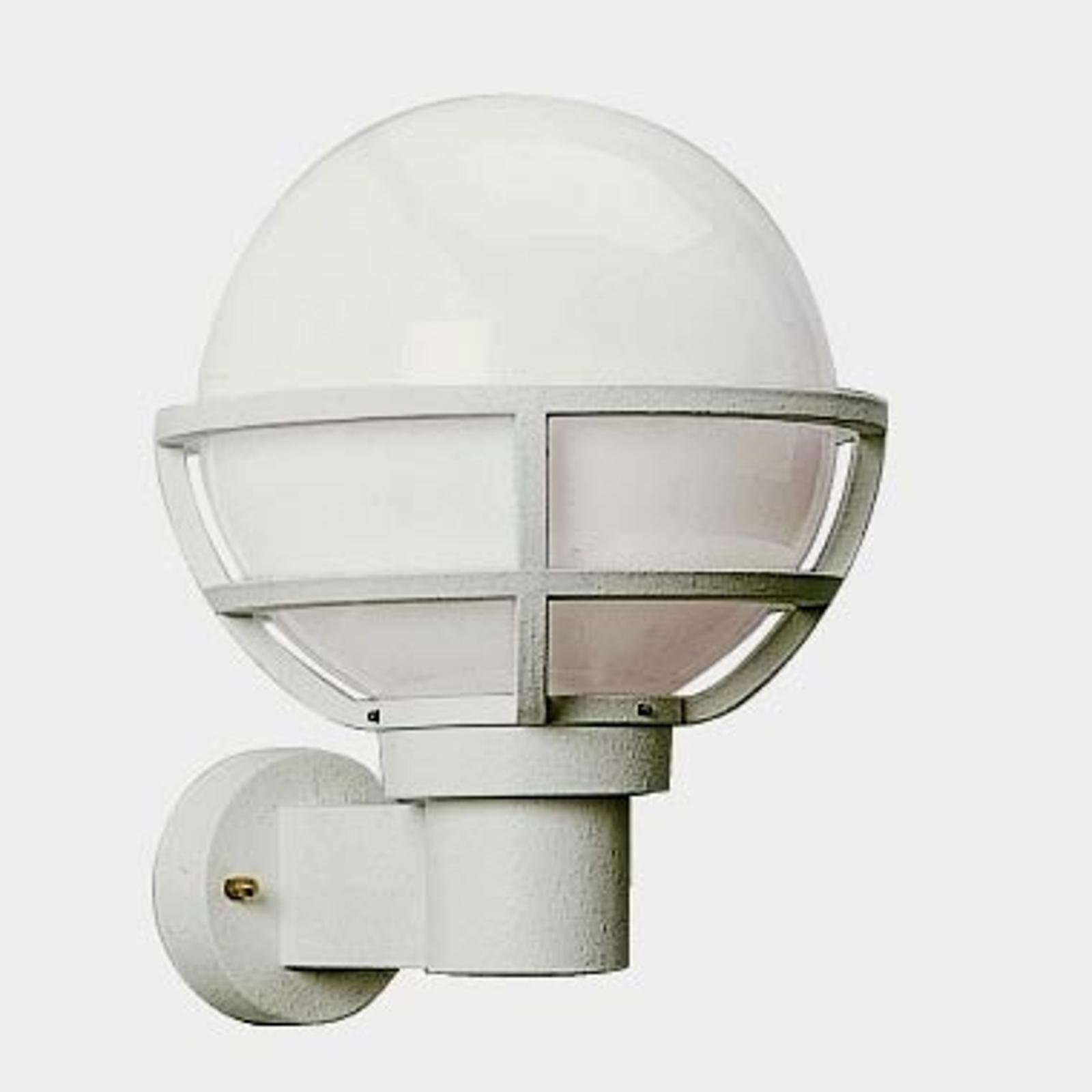 Zewnętrzna lampa ścienna biała z mlecznym szkłem
