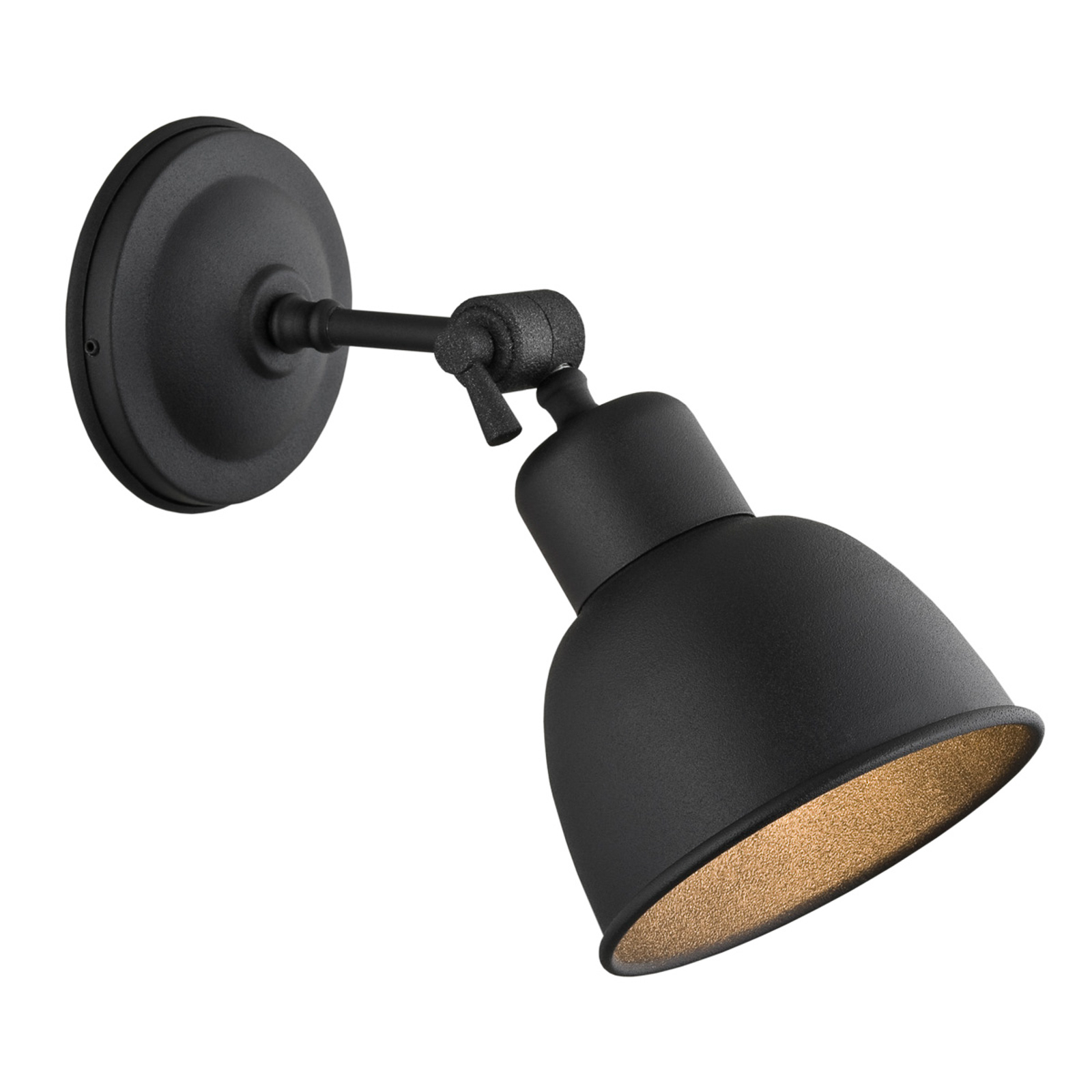 Lampa ścienna Emoti, 1-punktowa, czarna
