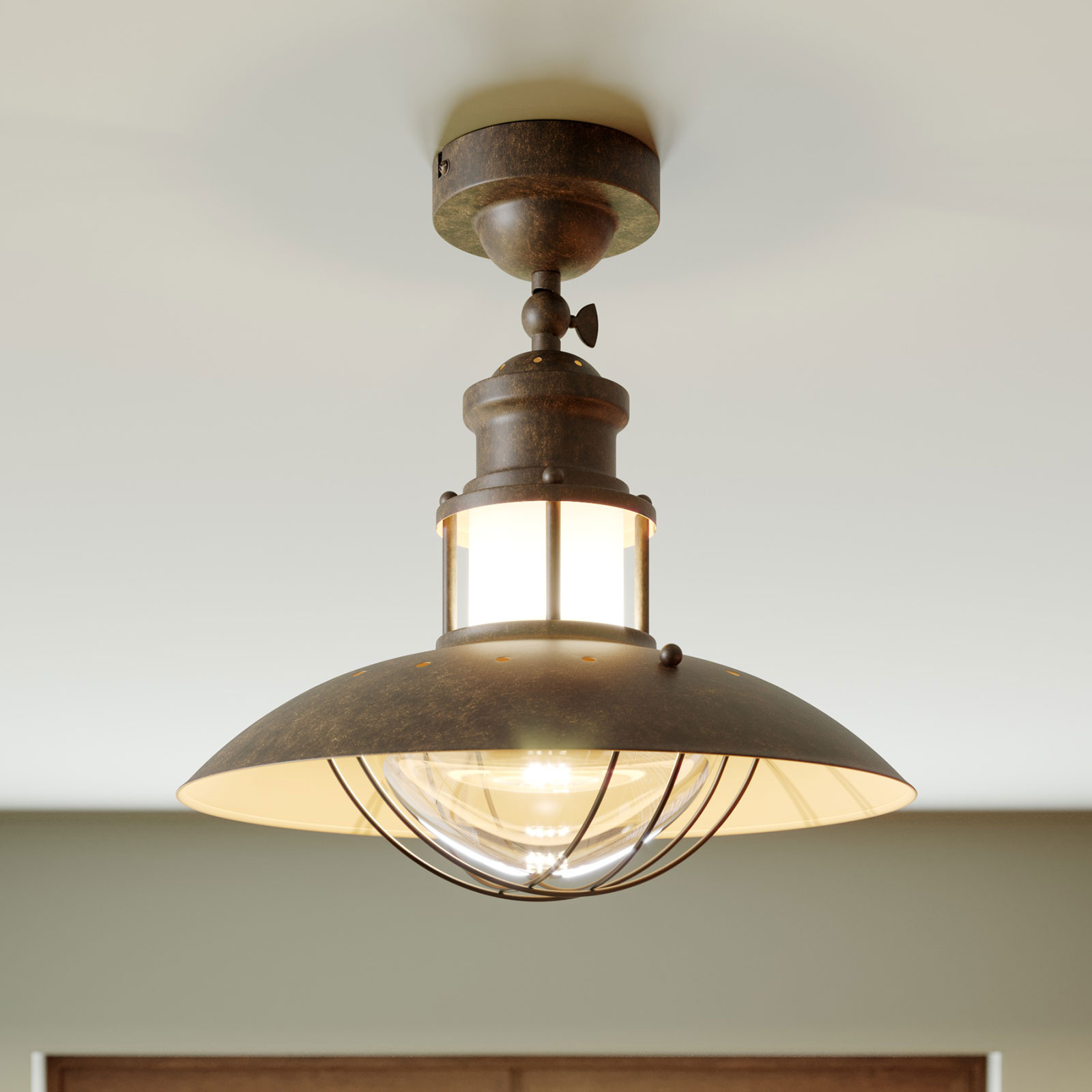 Rustikální stropní světlo Louisanne