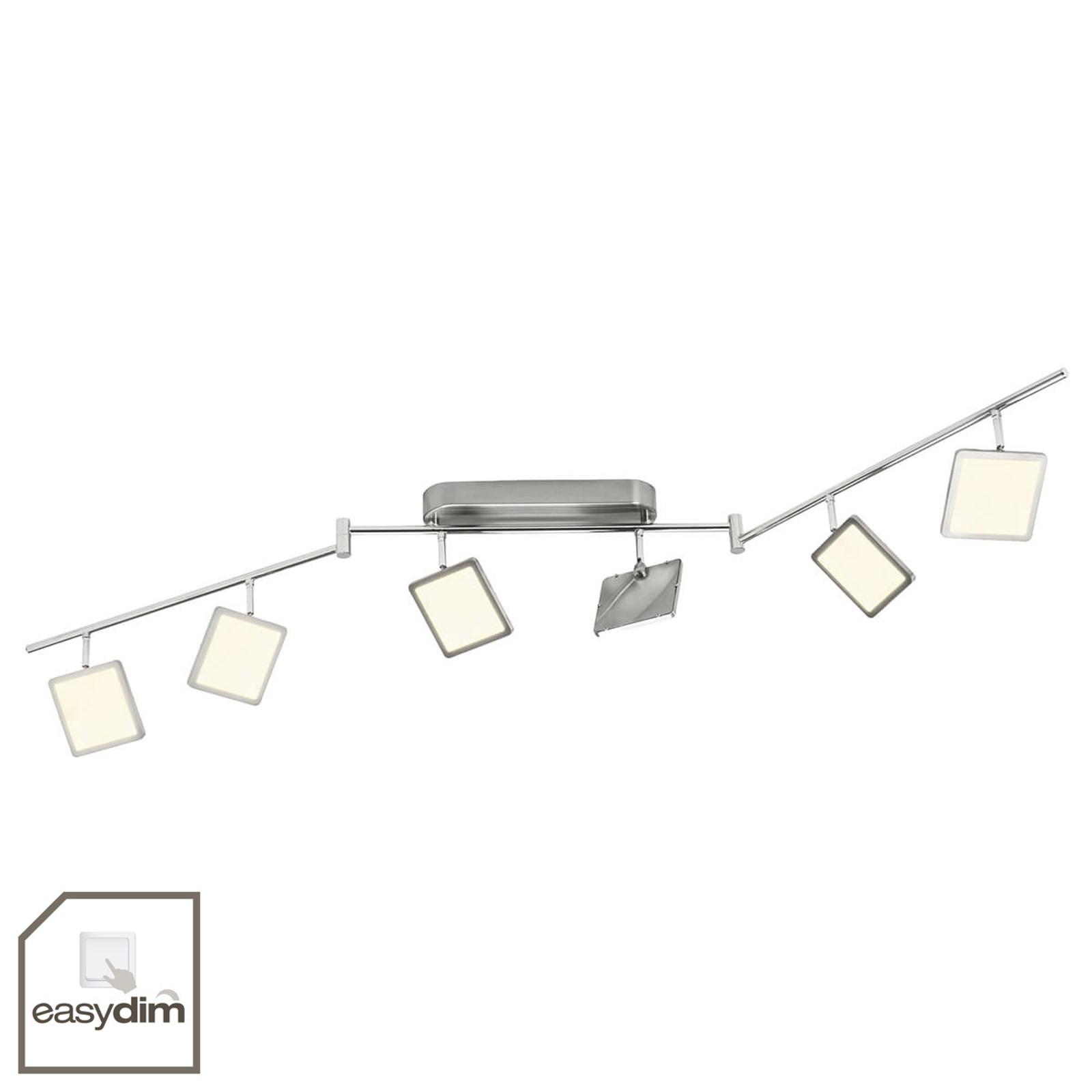 Easydim-taklampa Uranus, LED, 6 ljuskällor