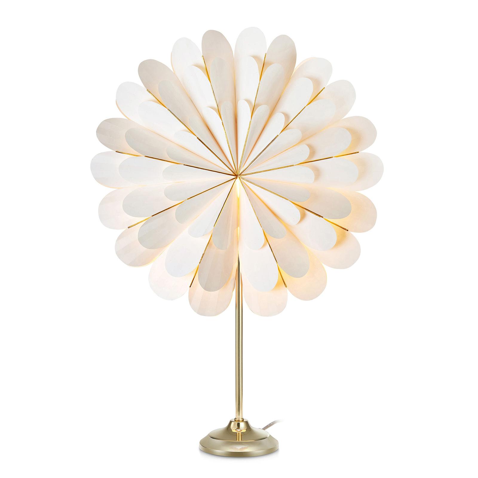Stella Marigold a lampada da tavolo, bianco/ottone