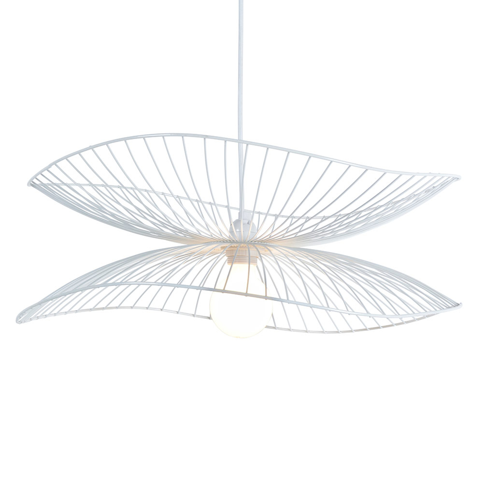 Forestier Lillebule S lampa wisząca, 56 cm, biała