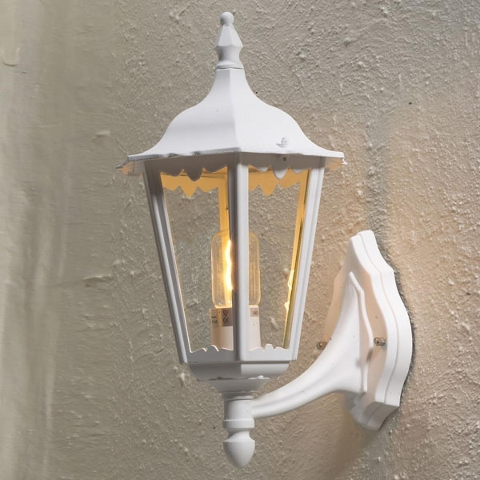Buitenwandlamp Firenze, staand, 48cm, wit