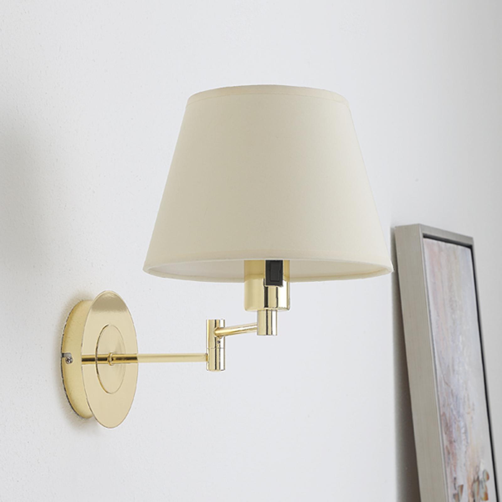 Acquista Pola - lampada da parete estraibile ottone lucido
