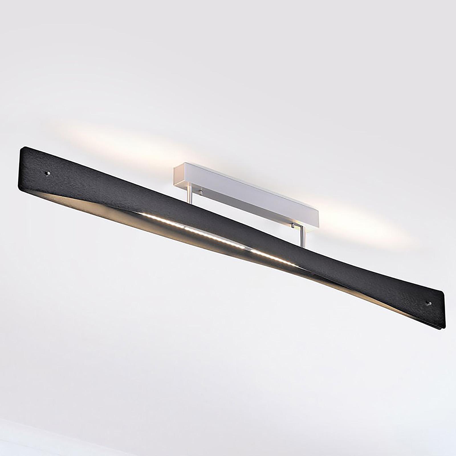 Lucande Lian LED-Deckenlampe, schwarz, alu