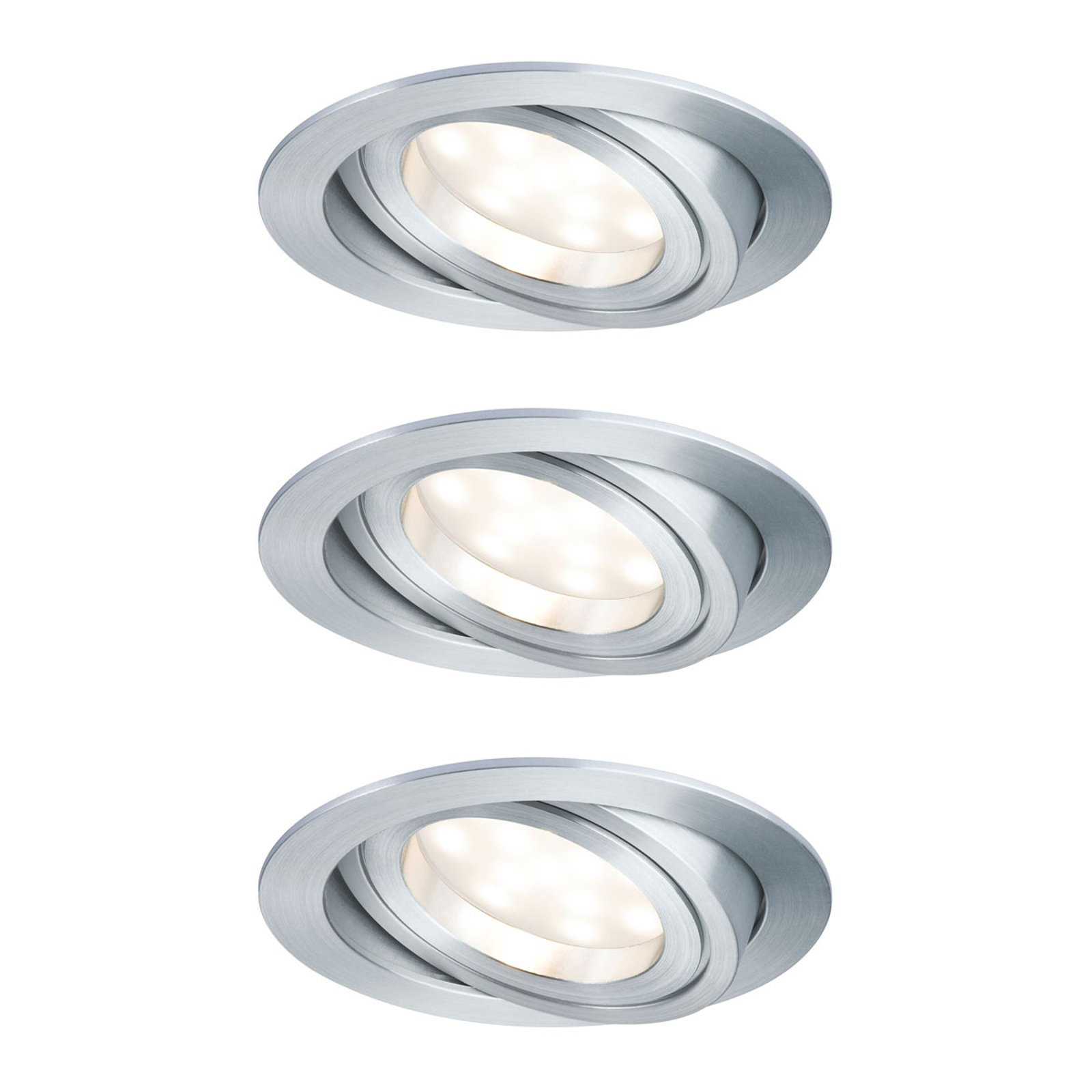 Paulmann spot LED Coin 3x7 W dimm./inclinable, alu
