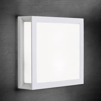 Henry – kvadratisk utomhusvägglampa i vitt