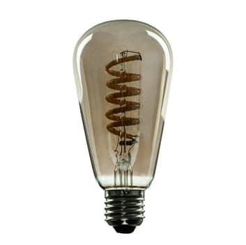 SEGULA LED-Lampe E27 8 W ST64 Curved ambient smoke