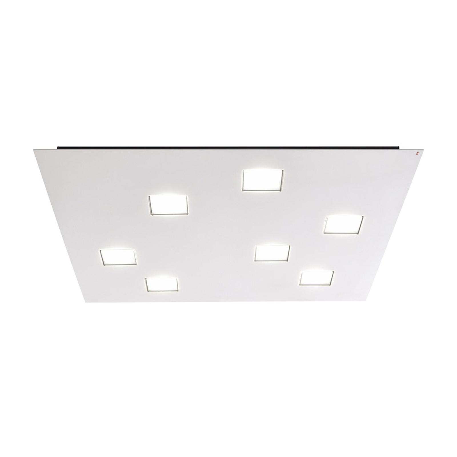 Fabbian Quarter, hvid LED-loftlampe 7 lyskilder