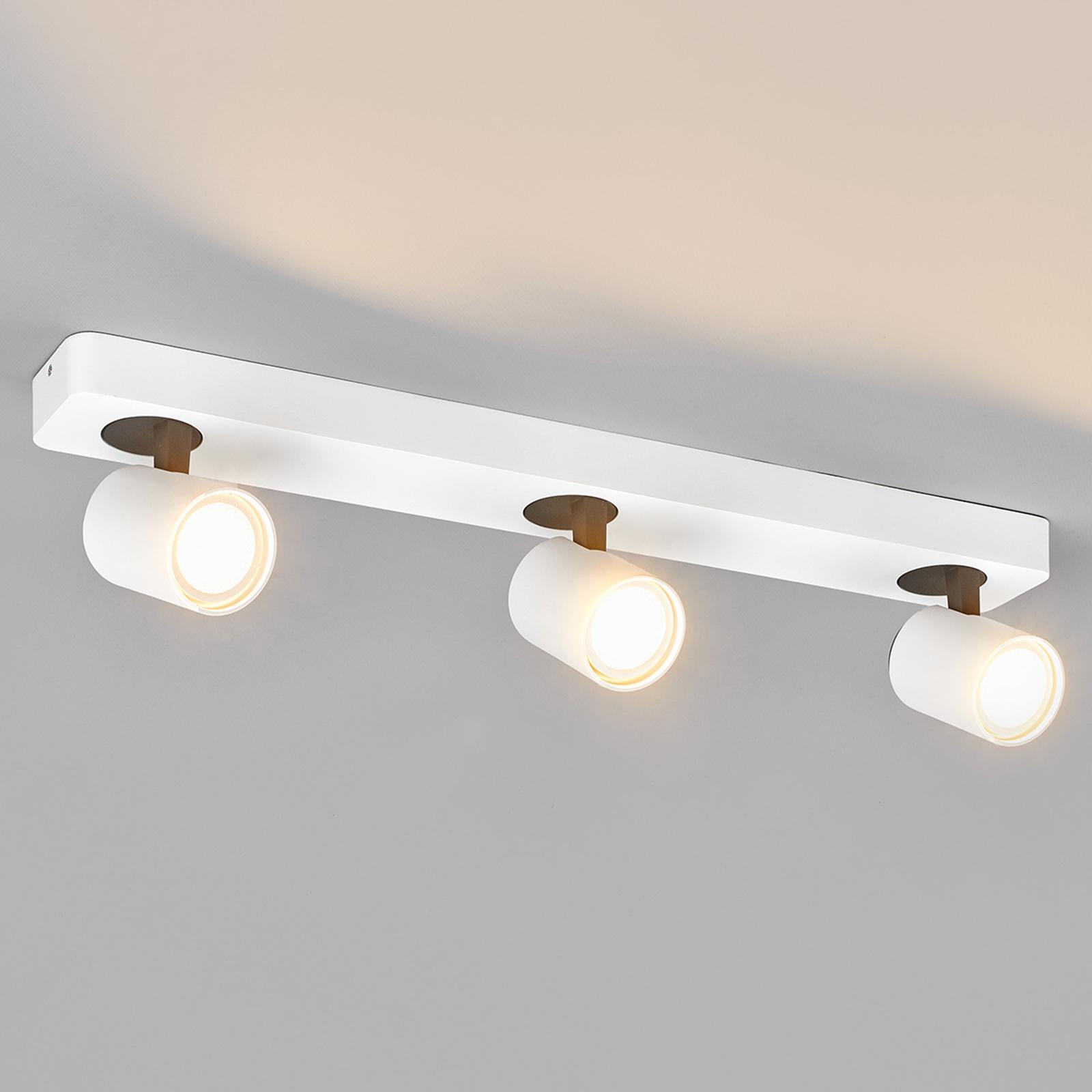 Dreiflammiger LED-Strahler Sean in Weiß