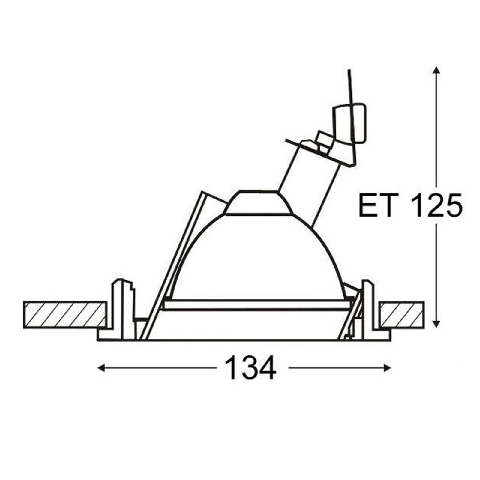 Einbaudownlight für Metalldampflampe 1x35W
