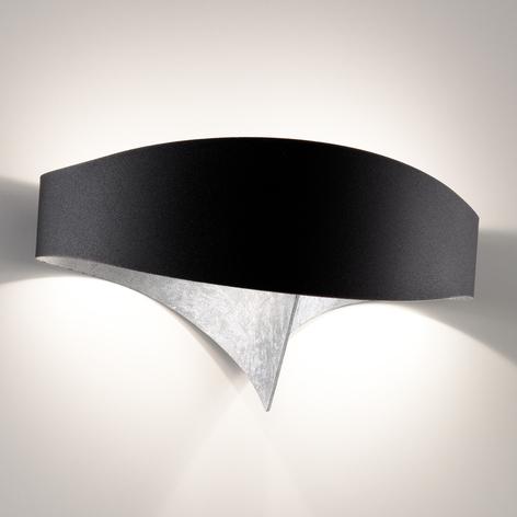 LED nástěnné světlo Scudo s lístkovým stříbrem