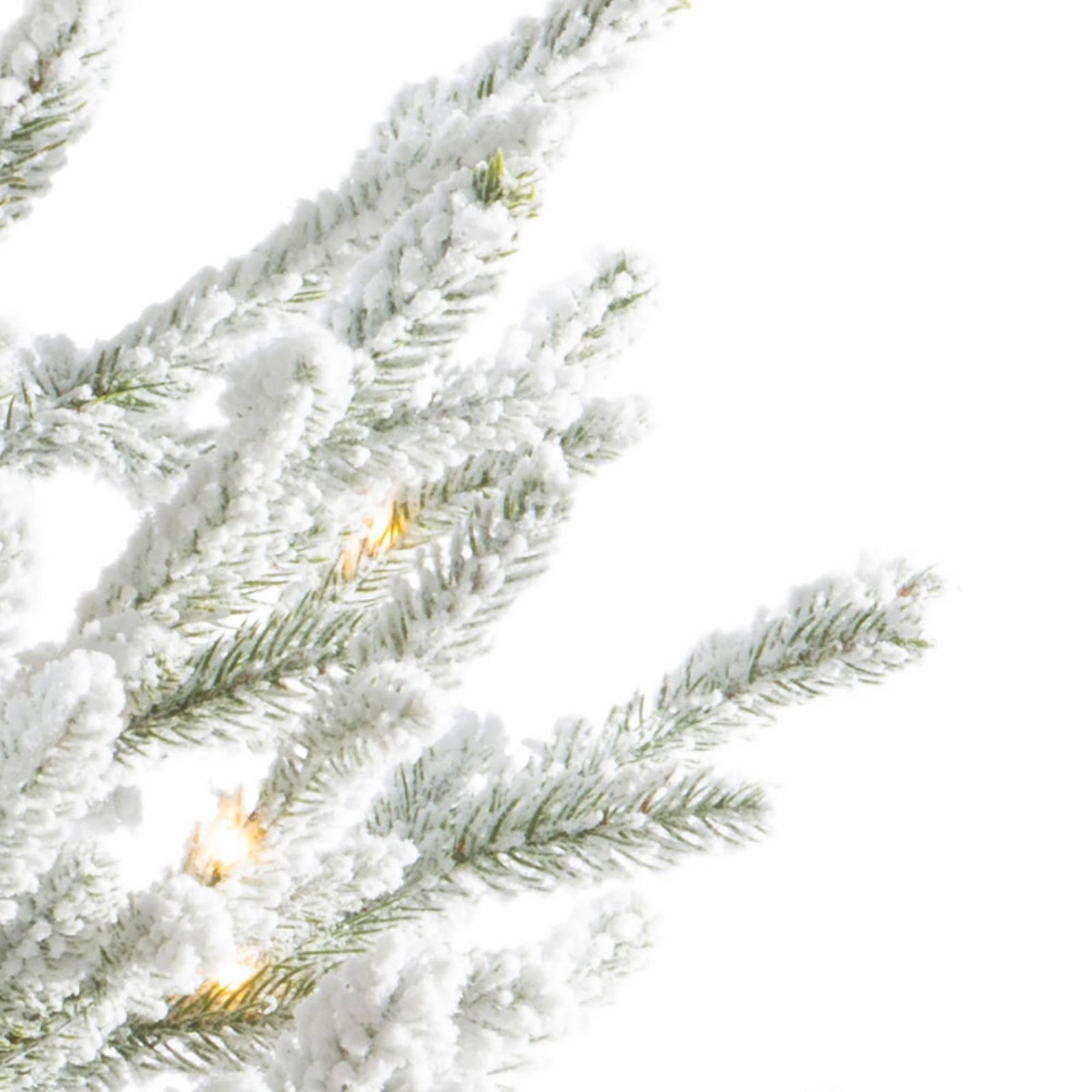 LED-Baum Norway im Topf, Batterie, weiß 120 cm