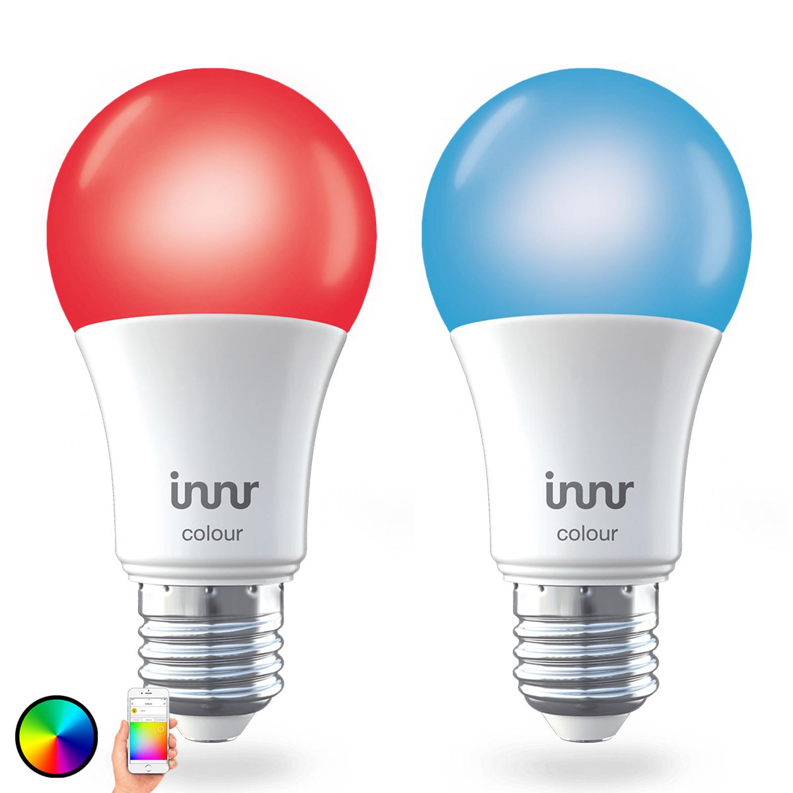 E27 9,5W LED-Lampe Innr Smart Bulb Colour 2er-Pack