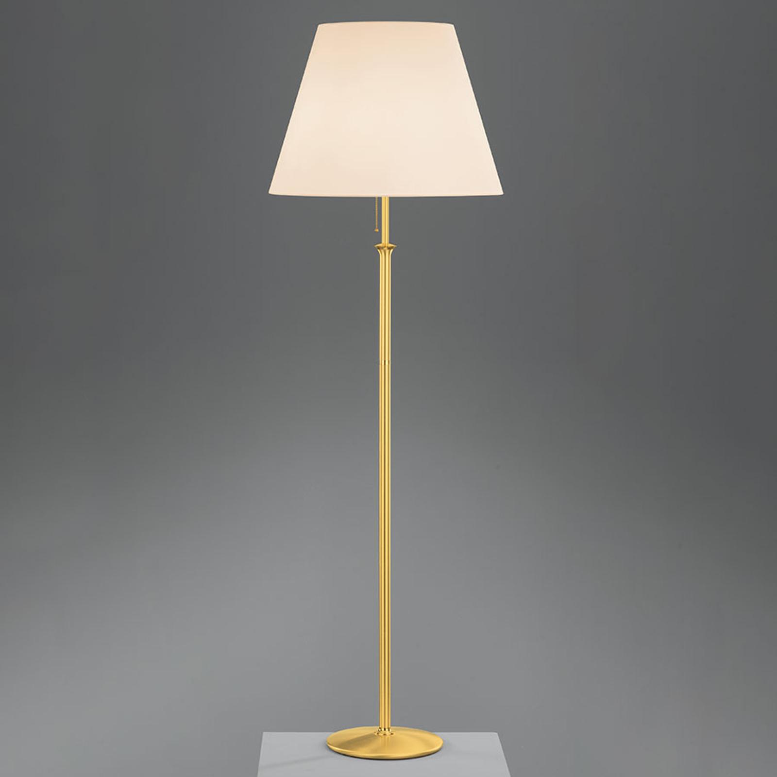 Gulvlampe Royce med takbelysning, krem