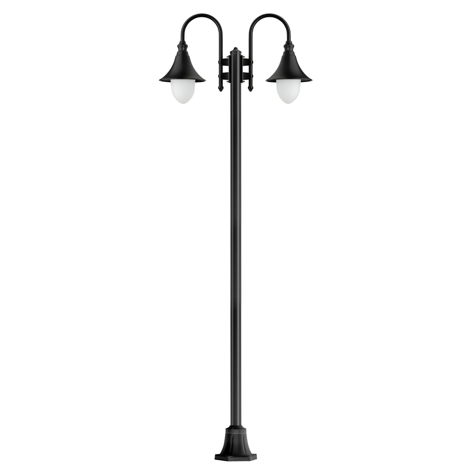 Miranda - 2-lichts lantaarnpaal, zwart