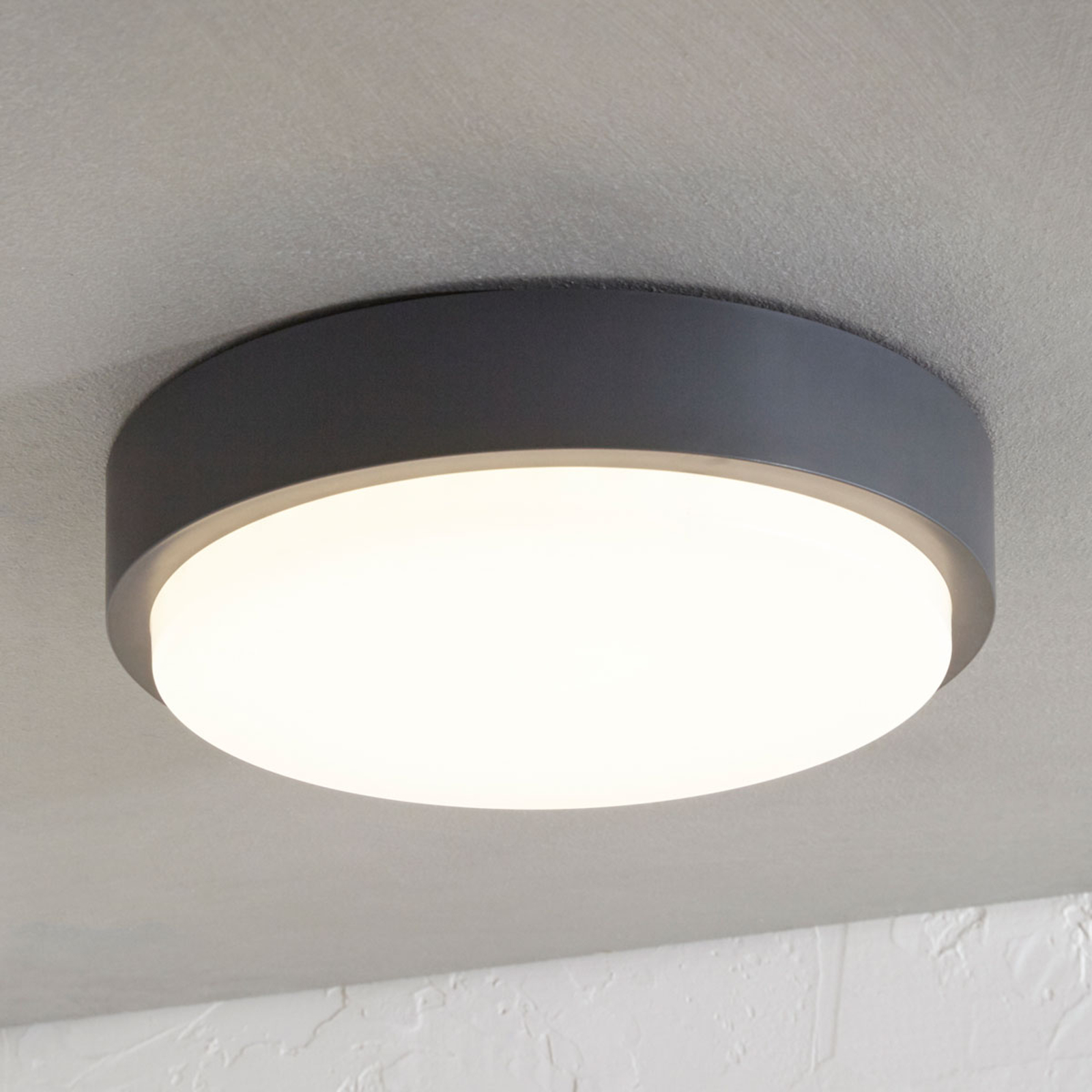 Nermin Led Outdoor Ceiling Lamp Ip65 Round Lights Co Uk