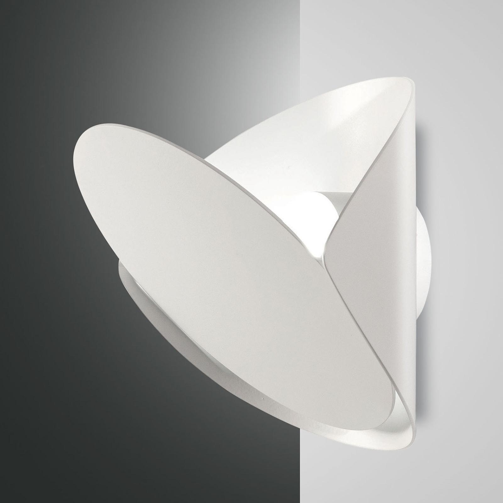 LED wandlamp Shield, dimbaar, wit
