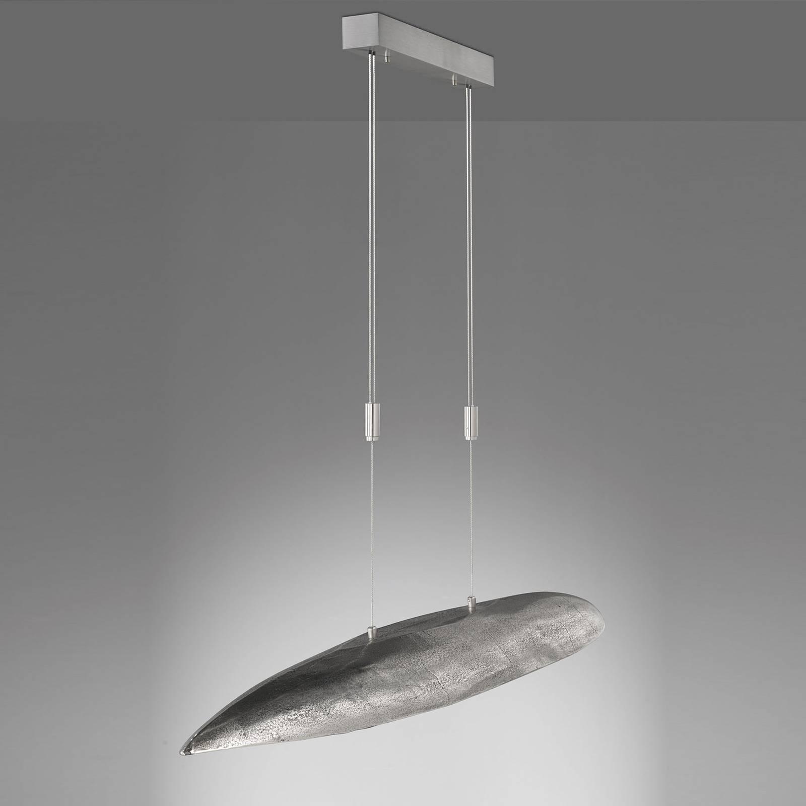 Lampa wisząca LED Colmar, długość 140 cm, nikiel