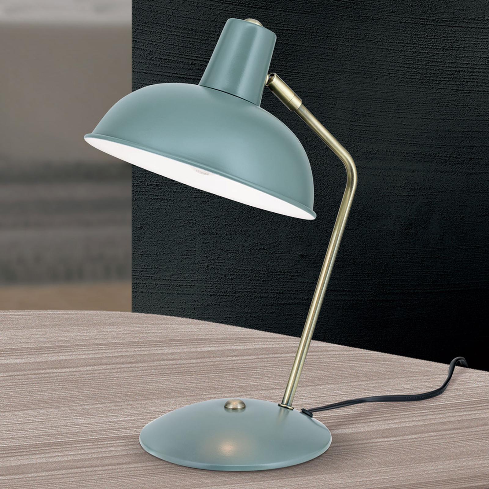 Klasyczny wygląd – lampa stołowa Fedra zielona