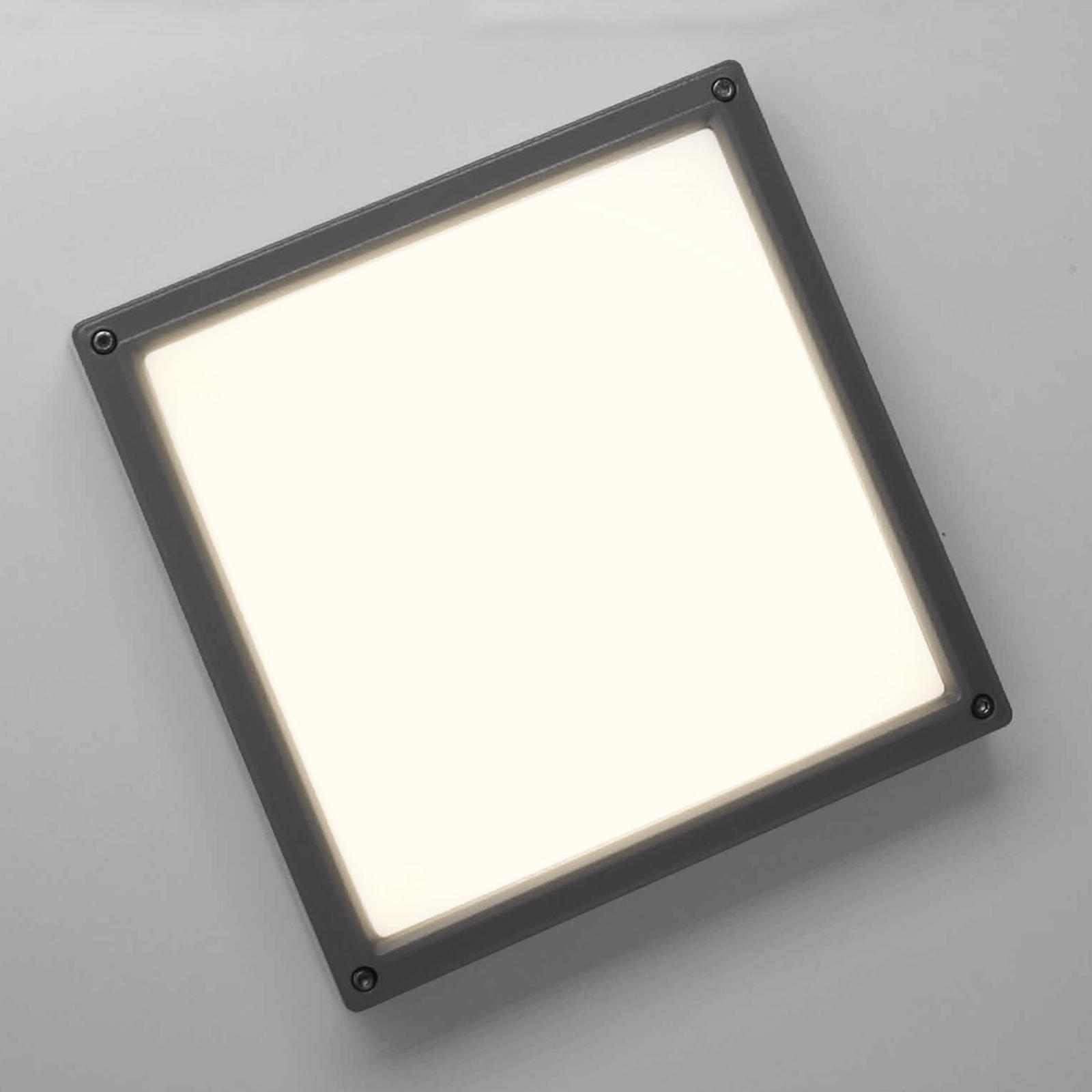 SUN 11 LED-vegglampe i antrasitt med 13 W og 3 K