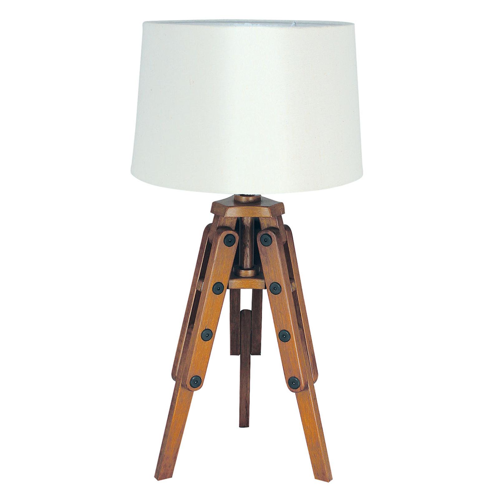 Lampe à poser en bois Marvin en forme de trépied