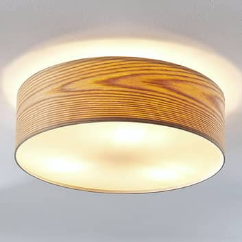 Holz-Deckenleuchte Dominic in runder Form