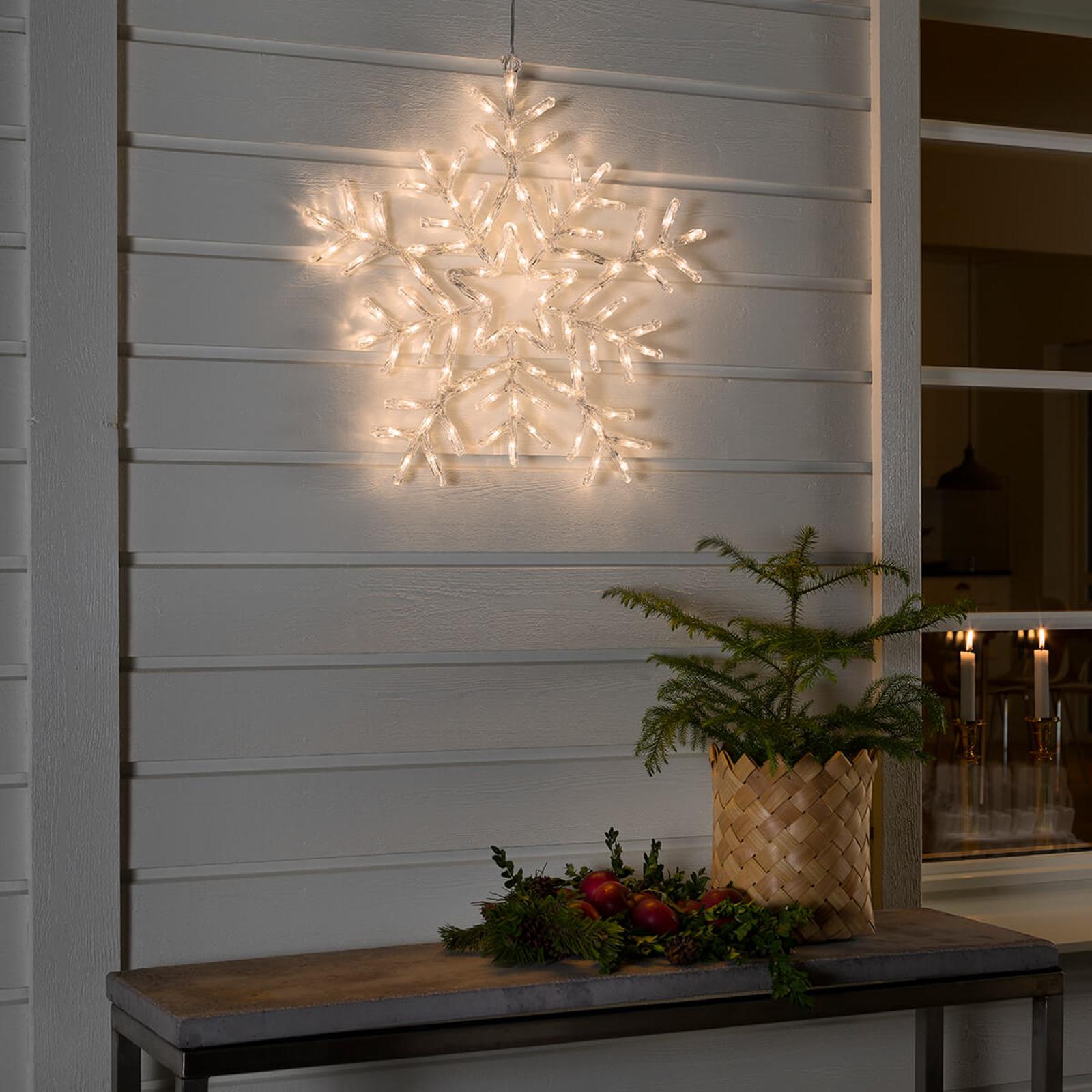 Varmhvit lysende LED snøfnugg