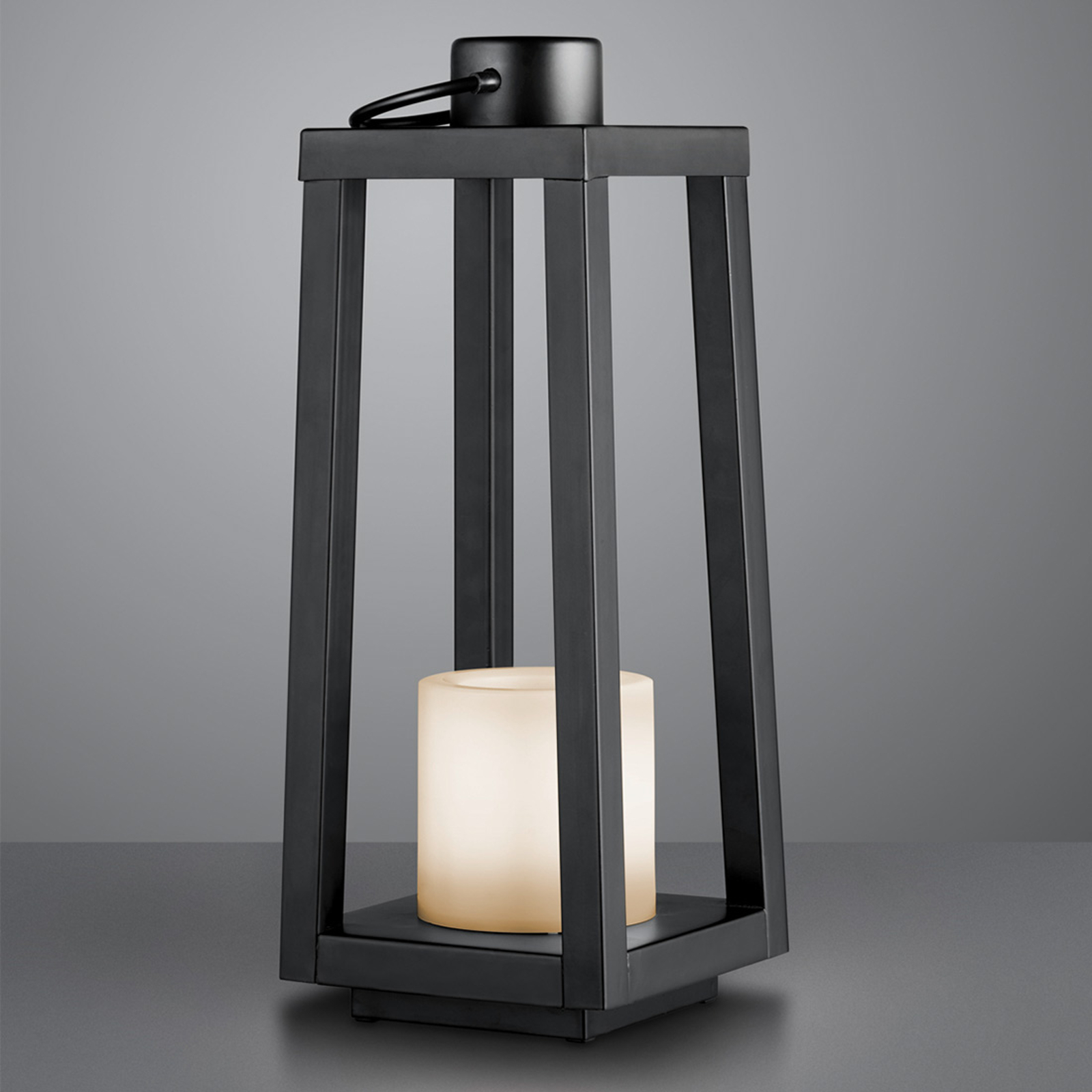 Soldreven LED-gulvlampe Loja, flammeeffekt