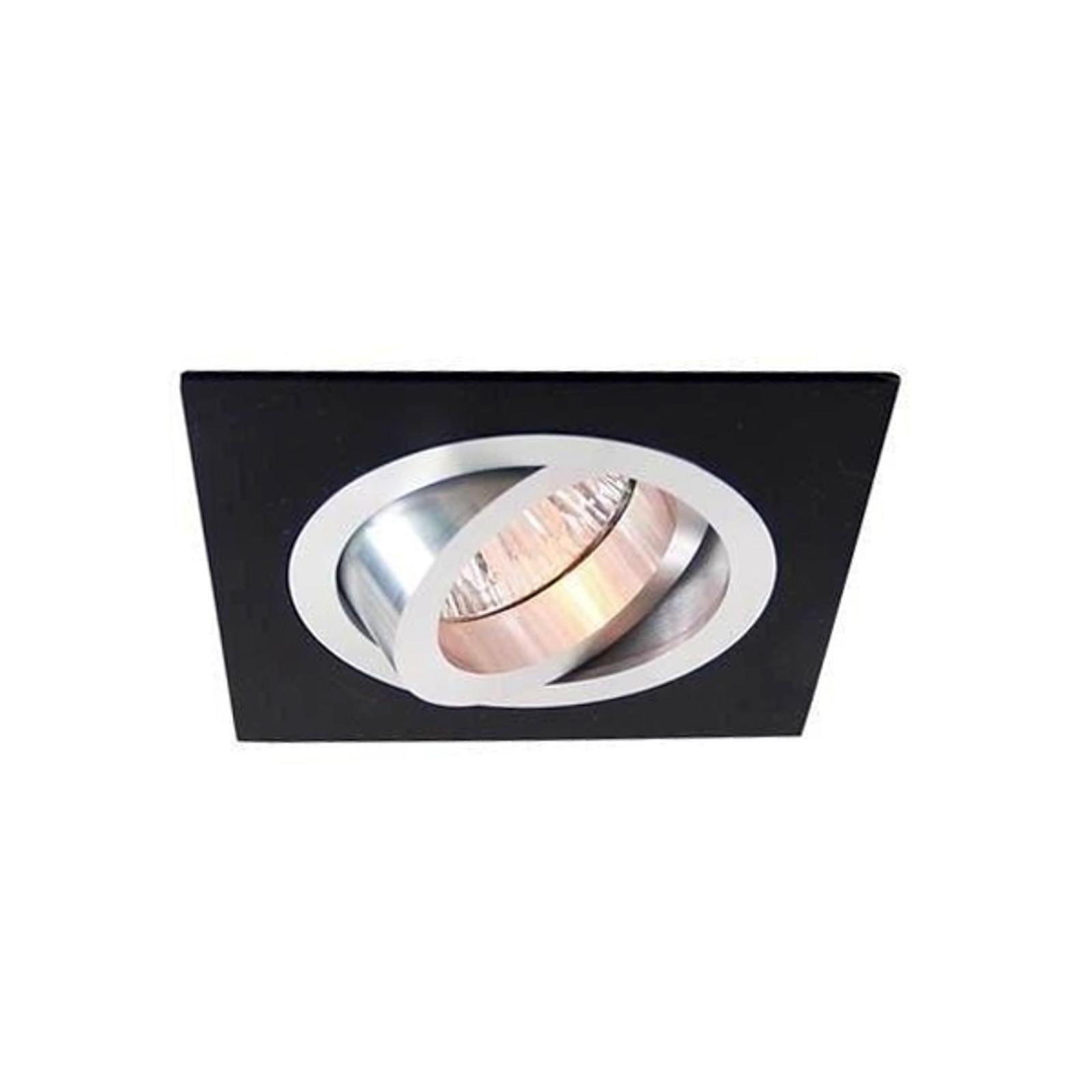 Fraaie 12V-inbouwlamp alu-zwart