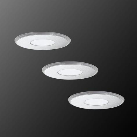 Indbyggelig LED-lampe Deco Up-Down, 3´er sæt, IP44