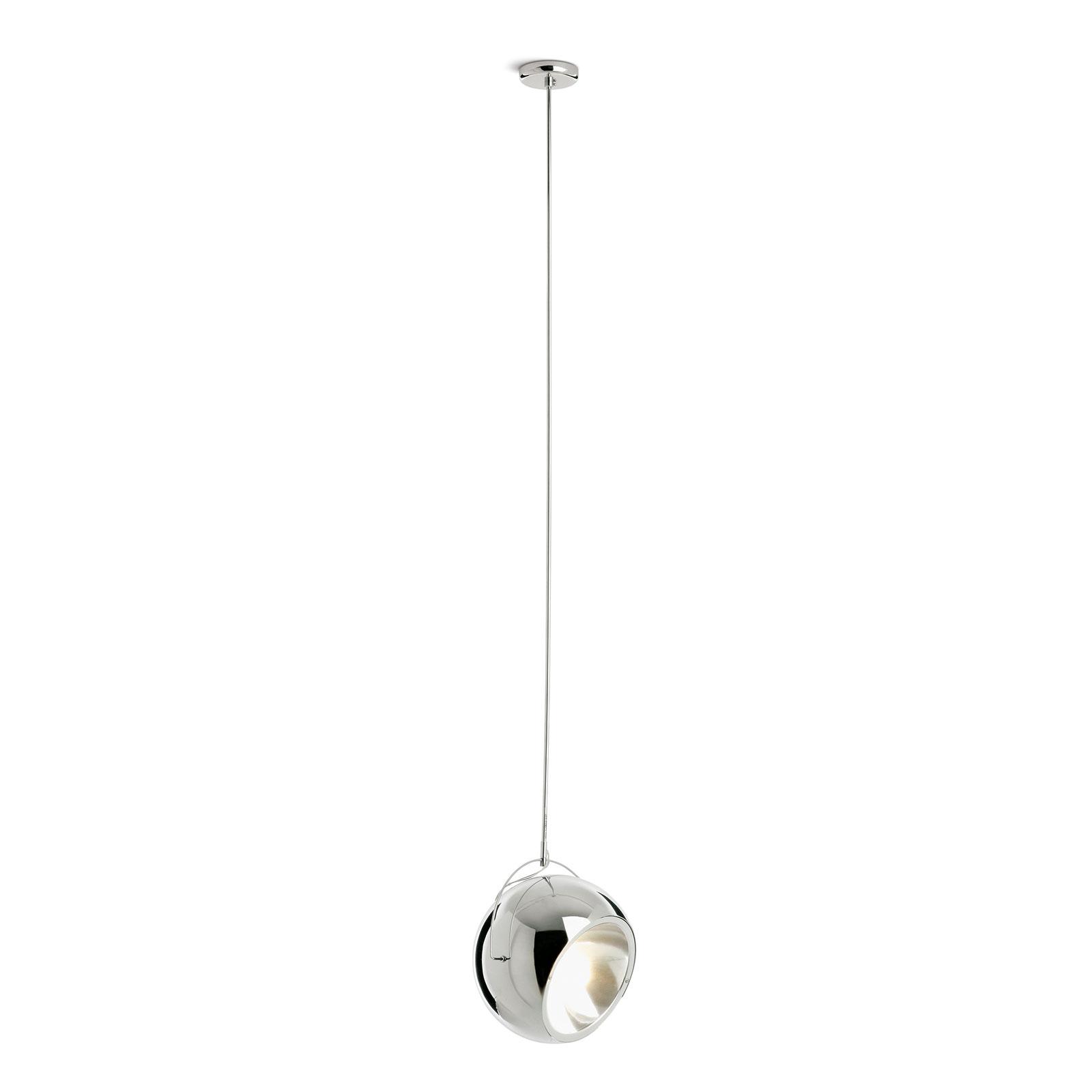 Fabbian Beluga Steel Chrom-Hängeleuchte, Ø 20 cm