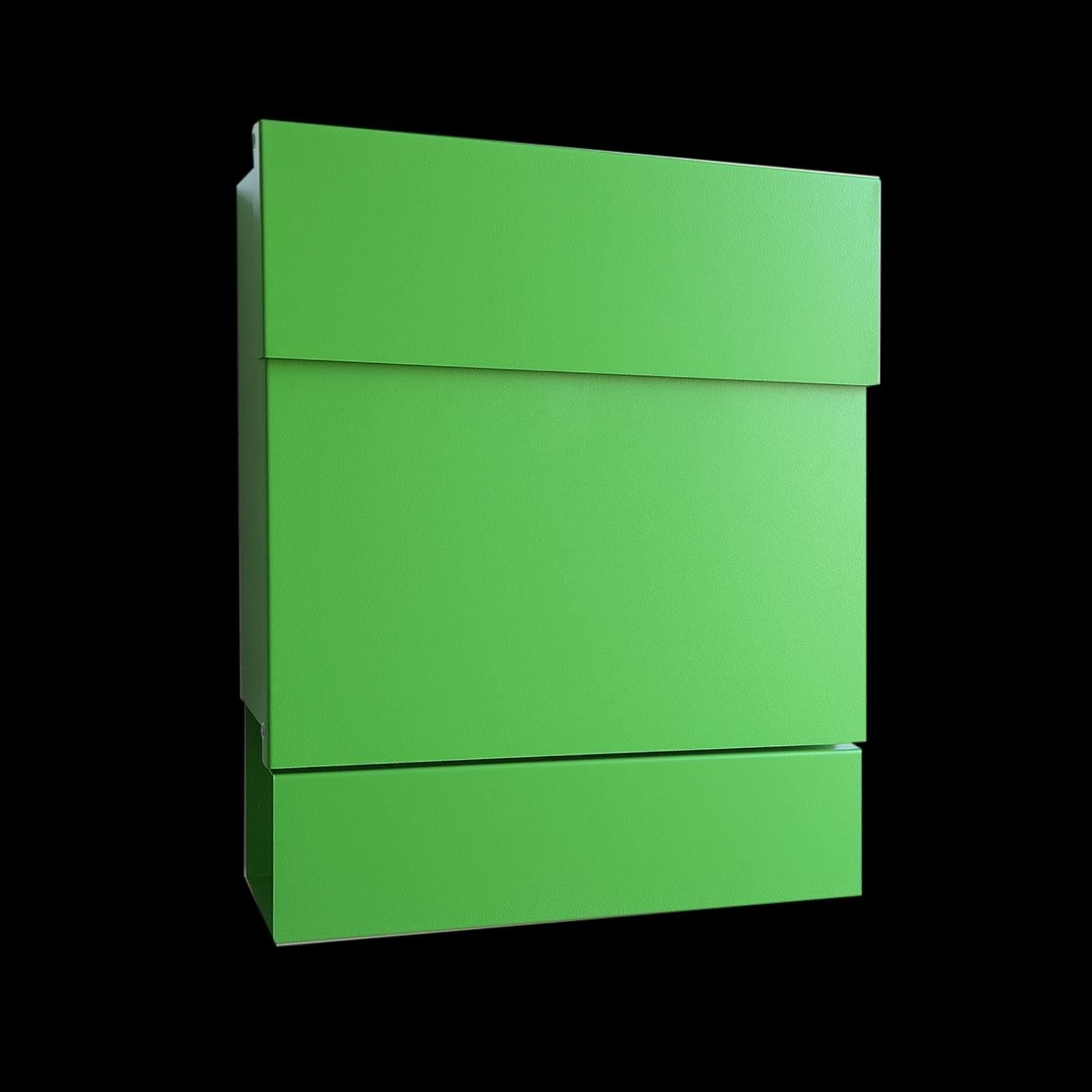 Romslig postkasse Letterman V, avisholder, grønn