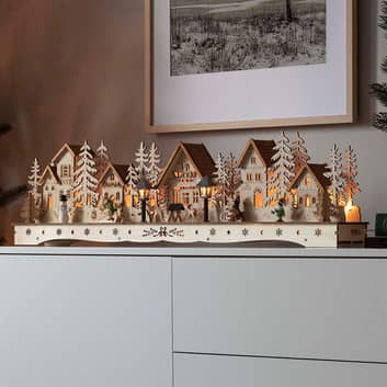 Arc lumineux LED village, transformateur ou pile