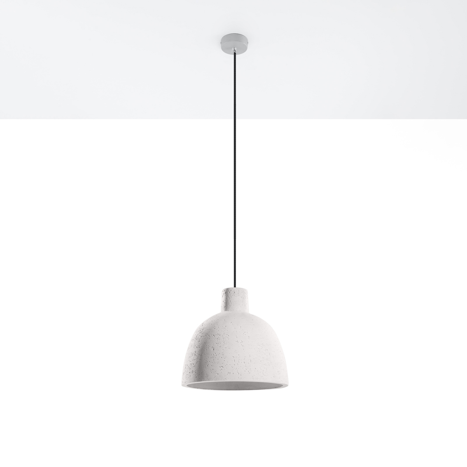 Hanglamp Cona van beton, Ø 28 cm