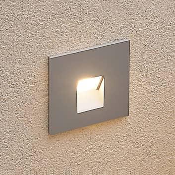 Arcchio Vexi lámpara empotrada LED, angular, plata