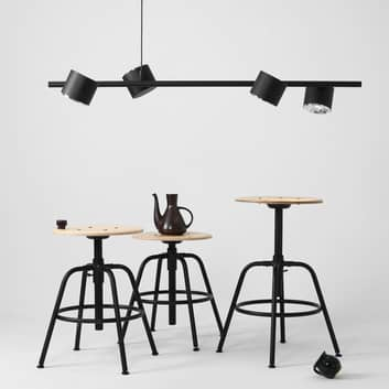 Hanglamp 1047, 4-lamps, zwart
