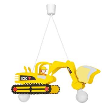 Bodo hængelampe i gravemaskine-form