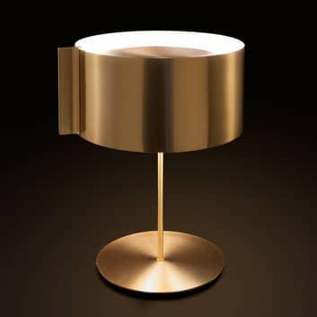 Oluce Switch - złota designerska lampa stołowa