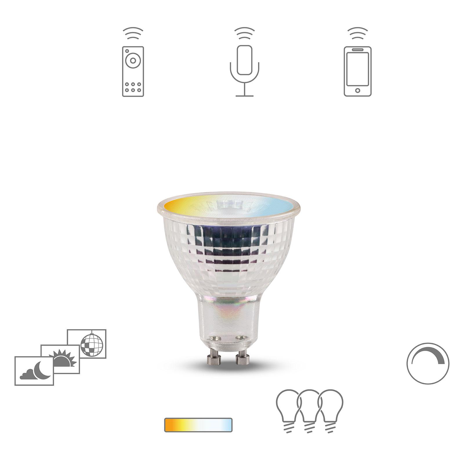 Müller Licht tint white Retro reflektor GU10 4,8 W