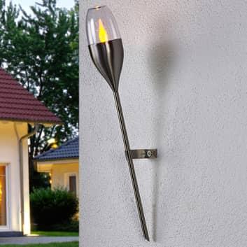 Lámpara de pared solar Jari, LED efecto titilante